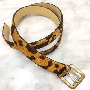 Talbots animal print leather belt size small